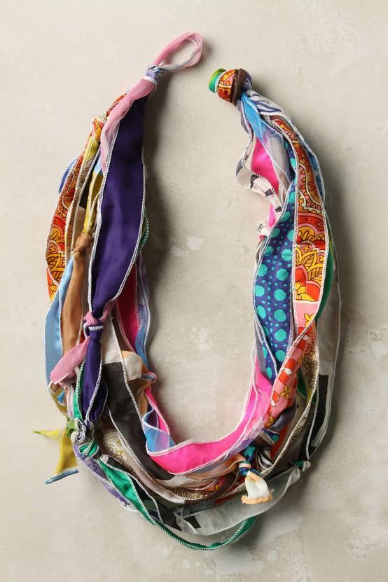 Strung Silk Necklace via Anthropologie
