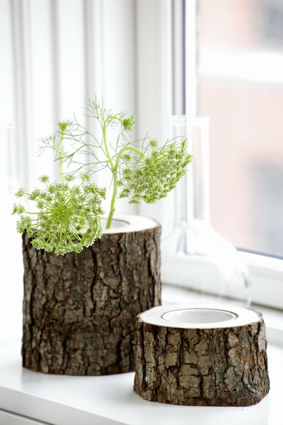 Tree Trunk Vase via Ferm Living