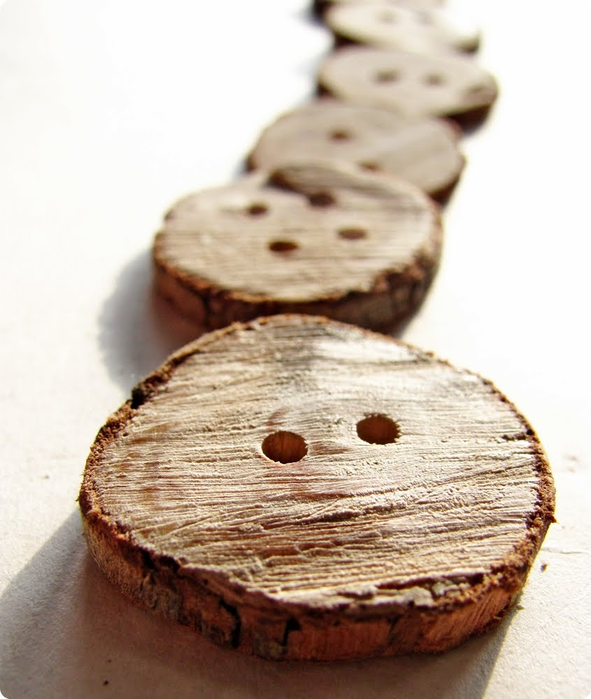 Wooden Branch Buttons via Shrimp Salad Circus