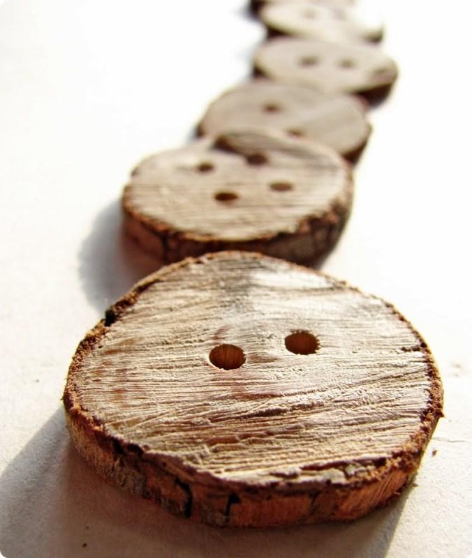 Wooden Branch Buttons via Shrimp Salad Circus