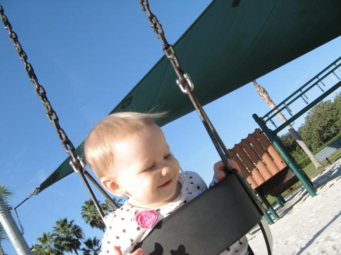 Aveline on the swings 2