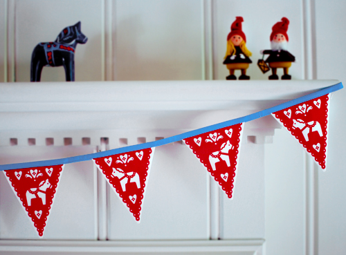 Dala Horse Bunting via All Sorts