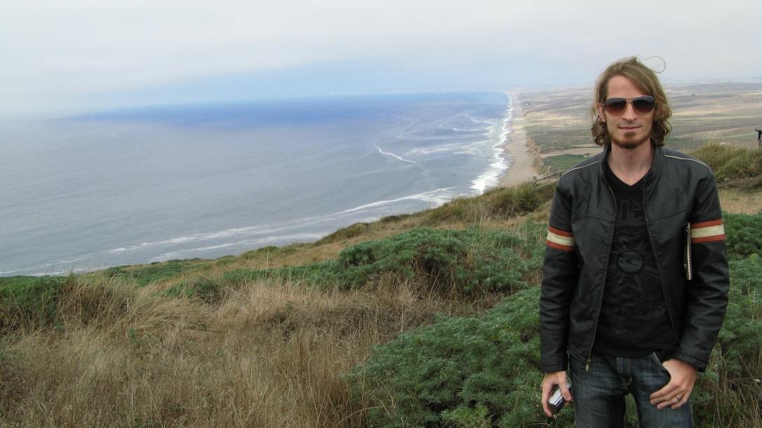 Josiah at Northern California coast
