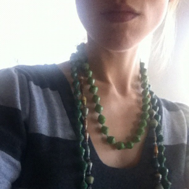 Just got these three strands of beads in the mail from Nakate Project. LOVE this cause!