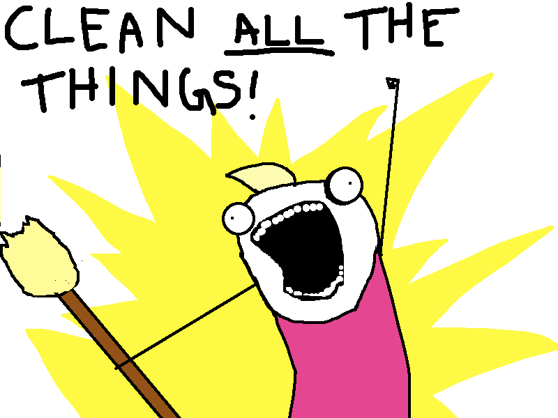 Clean All the Things via Hyperbole and a Half