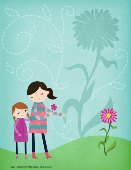 Little Miss Green Thumb - Illustrations by Rosy Designs - Story by Gina Munsey - Babiekins Magazine Issue 8 Page 153