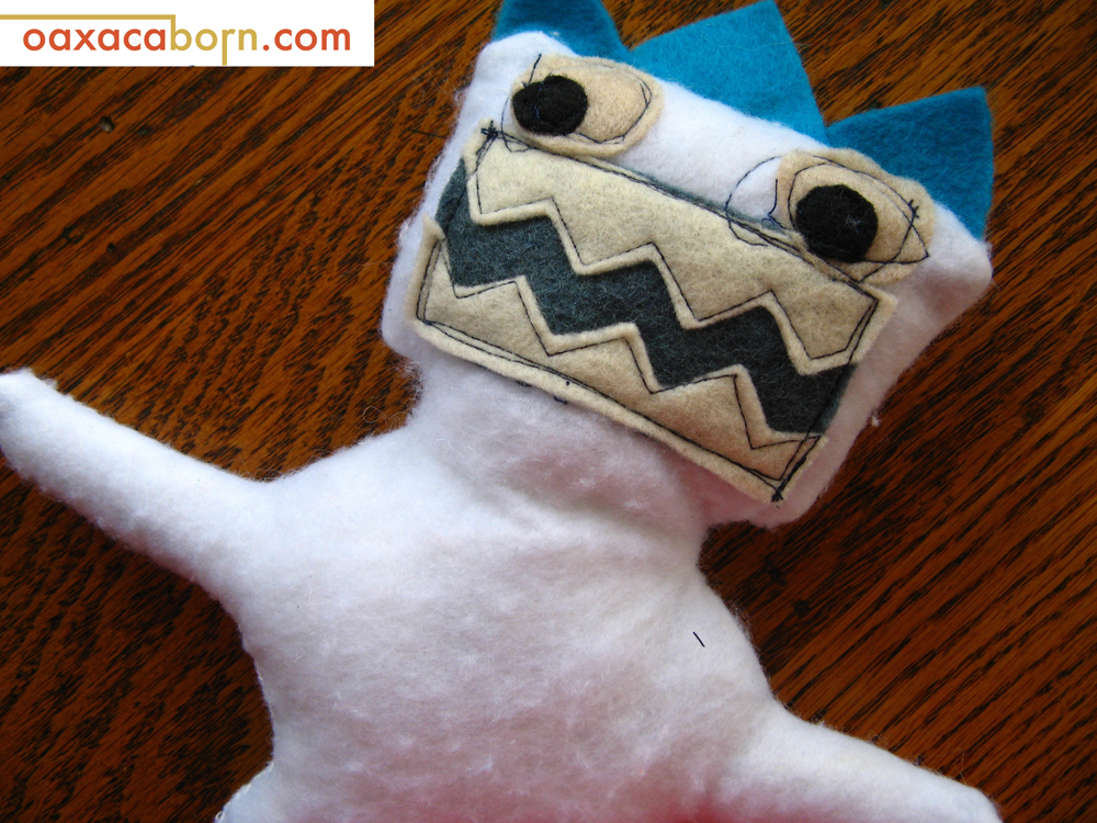 Oaxacaborn-Abominable Snowman yeti Plush Monster