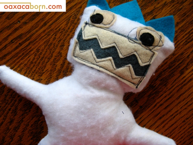 Oaxacaborn-Abominable Snowman yeti Plush Monster