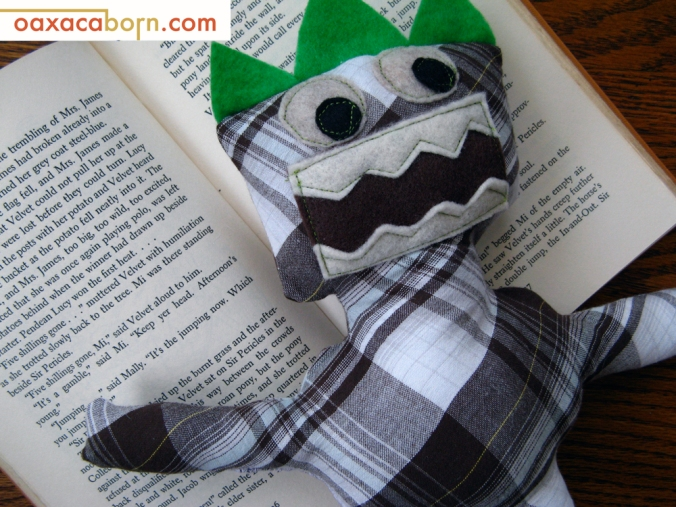 Plaid Scribble Monster Plush - Oaxacaborn
