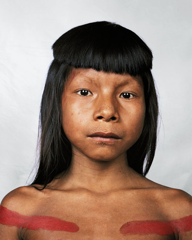 Portrait of Ahkohxet, 8, Amazonia, Brazil - Where Children Sleep James Mollison