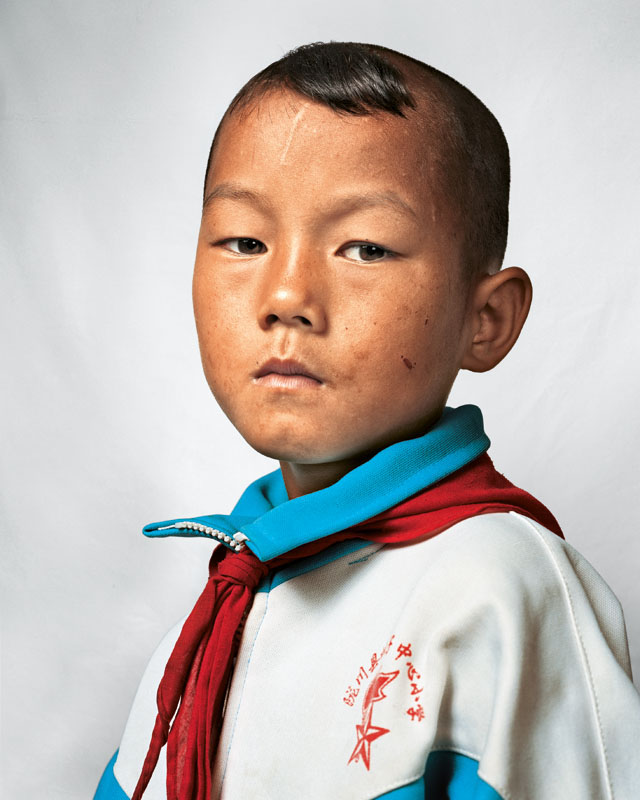 Portrait of Dong, 9, Yunnan, China - Where Children Sleep James Mollison