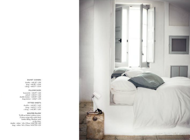 Toast UK House & Home Spring Summer 2012 SS 12 - Lace Linen Duvet cover and sheets