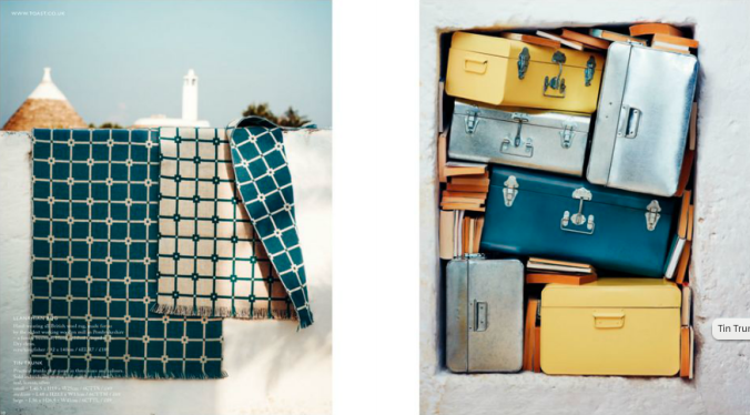 Toast UK House & Home Spring Summer 2012 SS 12 - British wool LLANRHIAN RUG and Tin Trunks