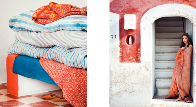 Toast UK House & Home Spring Summer 2012 SS12 - Striped ticking, quilts, bed linens and textiles