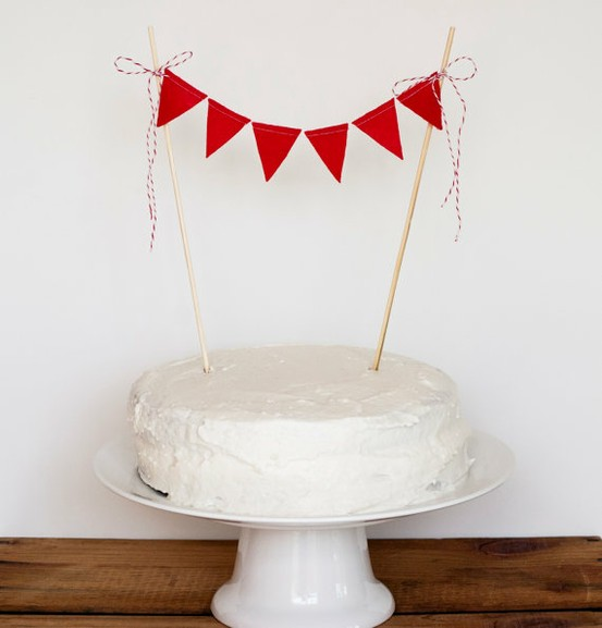 cake bunting via steph and ben on etsy