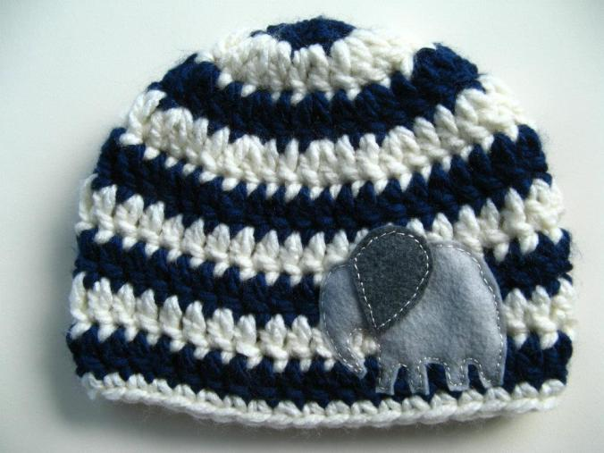 Elephant Hat - Striped Boys Hat