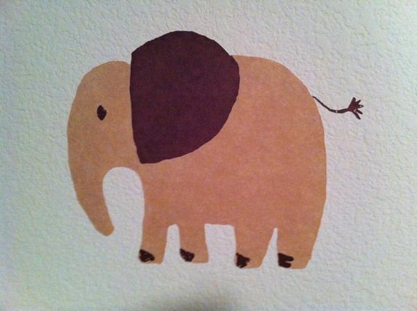 Elephant painting in boy's nursery