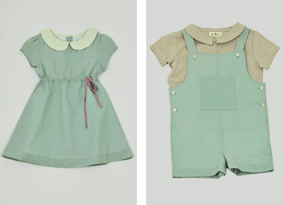 Olive Juice Amelie Dress and Bailey Shortall - How to Dress your Kids like Dick and Jane