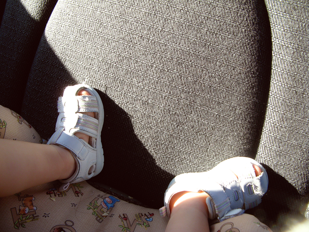 Day in Photos - Toddler Feet in Car