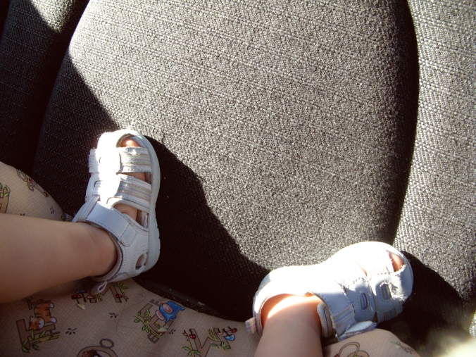 Day in Photos - Toddler Feet in Car