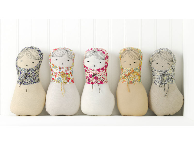 Sweet faced girls matryoshka via h-luv fabrications