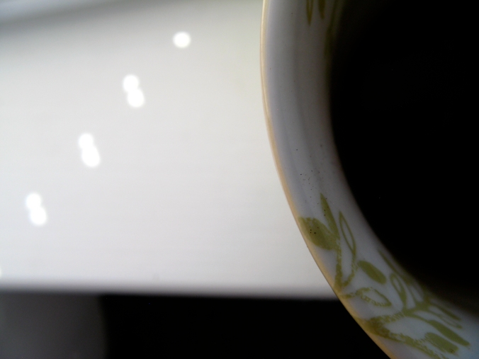 Coffee and Light taken with Canon 58mm