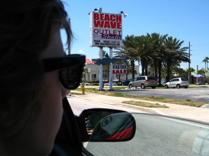 Cocoa Beach Shark on Sign
