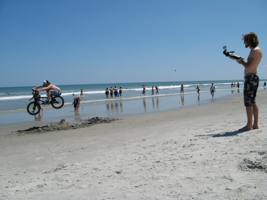 BMX VIdeo Channel on YouTube - SchultzFan being filmed at Cocoa Beach