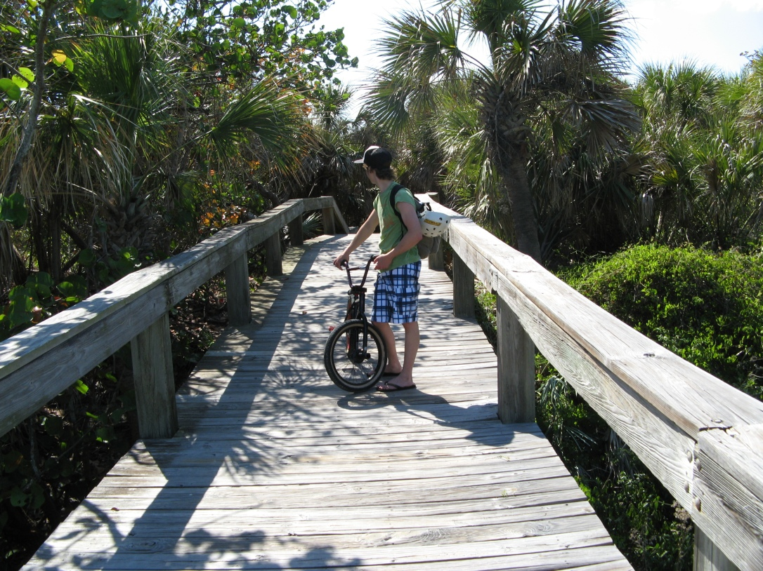 Board Walk near Lori Wilson Park Cocoa Beach