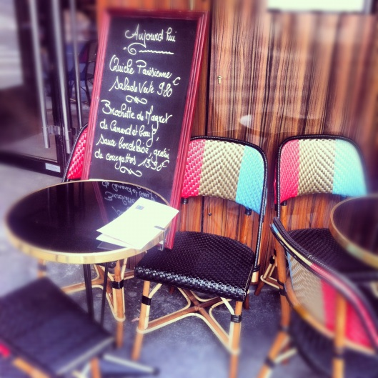 Cafe sign in Paris - Top 5 Things to Love about Paris - Virtual Travel Series