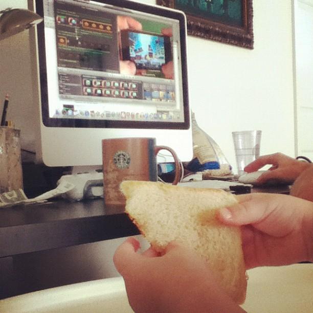 Josiah Munsey working on the Missile Monkey game trailer