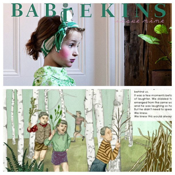 Babiekins Magazine Issue 9 Cover and Excerpt from Fort Building by Gina Munsey