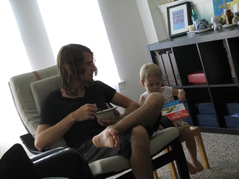 Josiah and Aveline - Sunday morning breakfast and reading