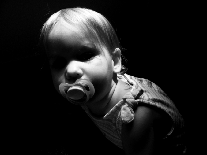 Toddler in Black and White - via Oaxacaborn dot com