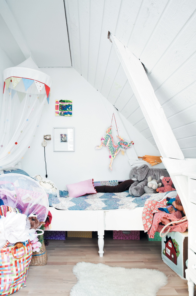 Child's Attic Room in Vedbaek house in Dwell Magazine, Photograph by Jonas Bjerre-Polsen
