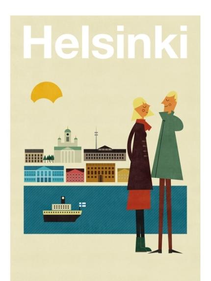 Helsinki poster - Human Empire Artist Series - Blanca Gómez