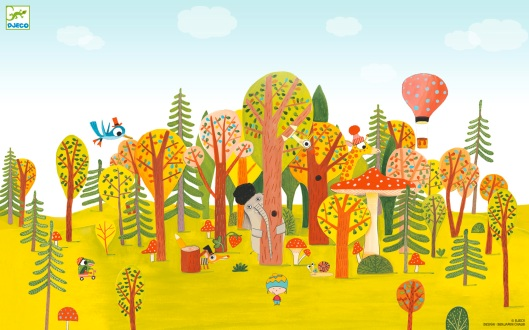 Djeco desktop wallpaper - whimsical illustration and design