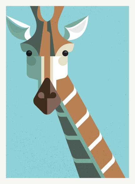 Lumadessa Giraffe Portrait by Josh Brill