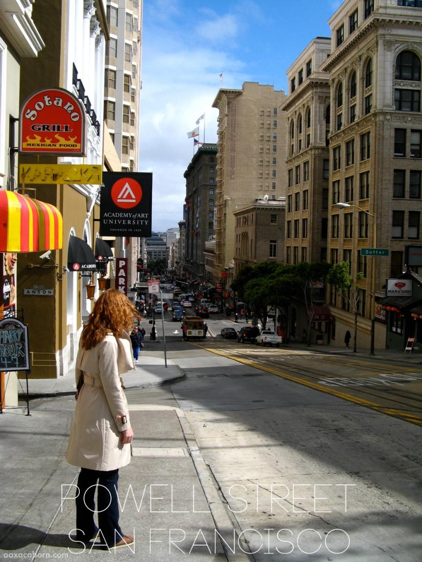 Powell Street in San Francisco, photo via Oaxacaborn dot com