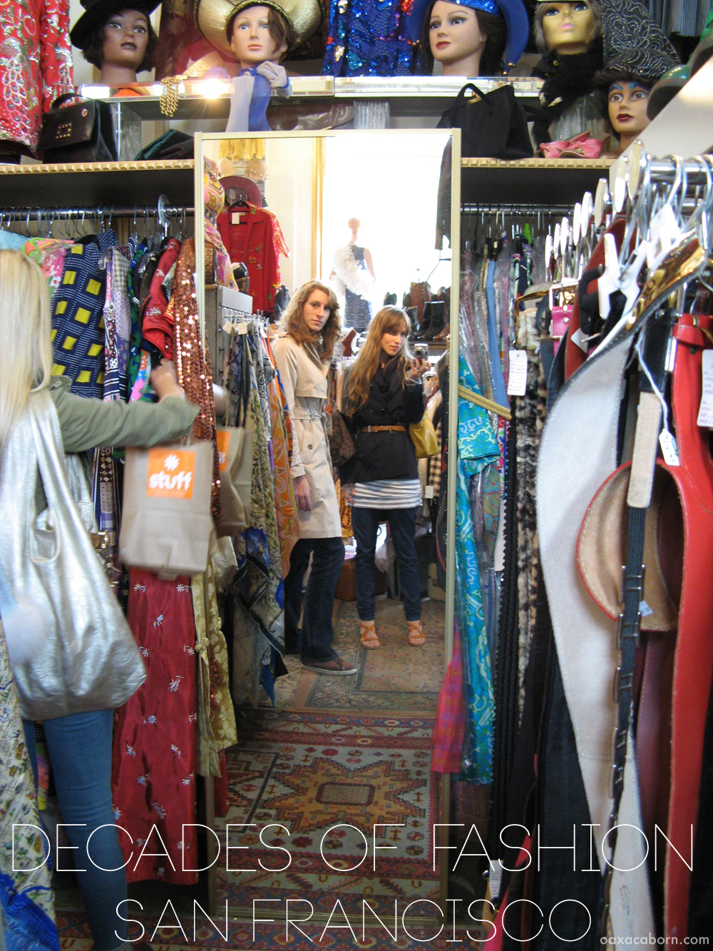 Shopping in Decades of Fashion on Haight Street in San Francisco, photo via Oaxacaborn dot com