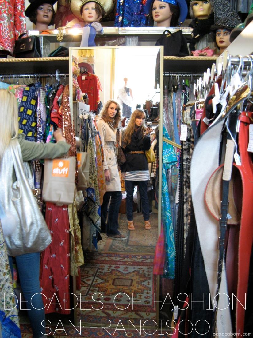 Shopping in Decades of Fashion on Haight Street in San Francisco, photo via Oaxacaborn dot com