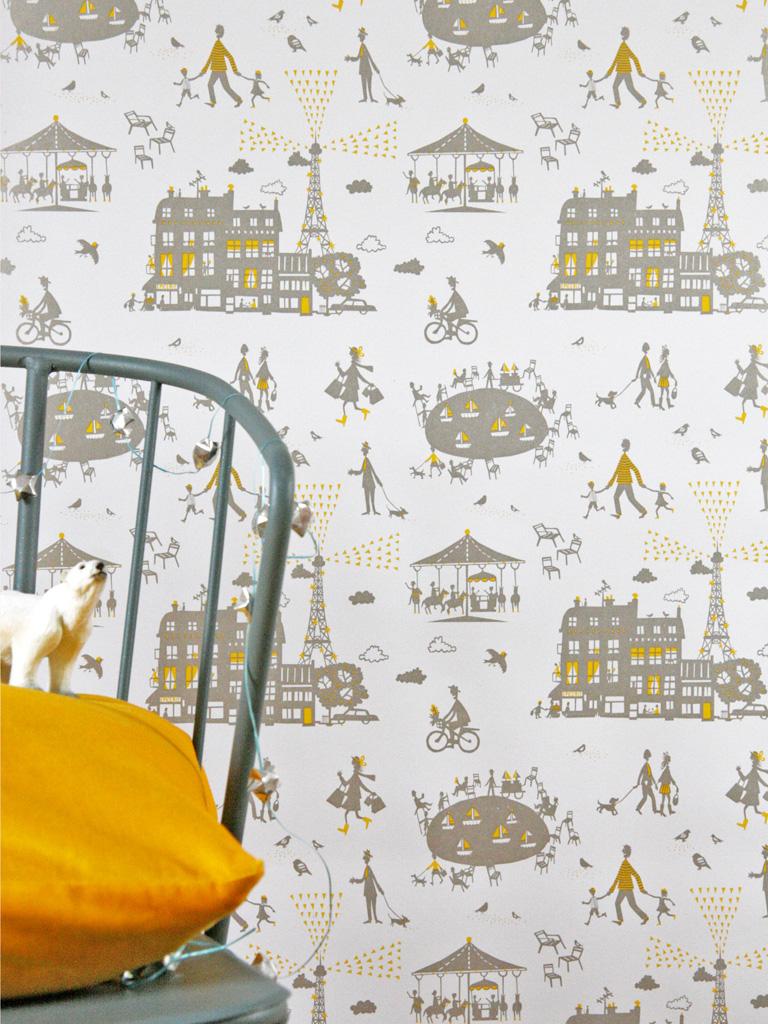 Un Dimanche à Paris wallpaper via Famille Summerbelle