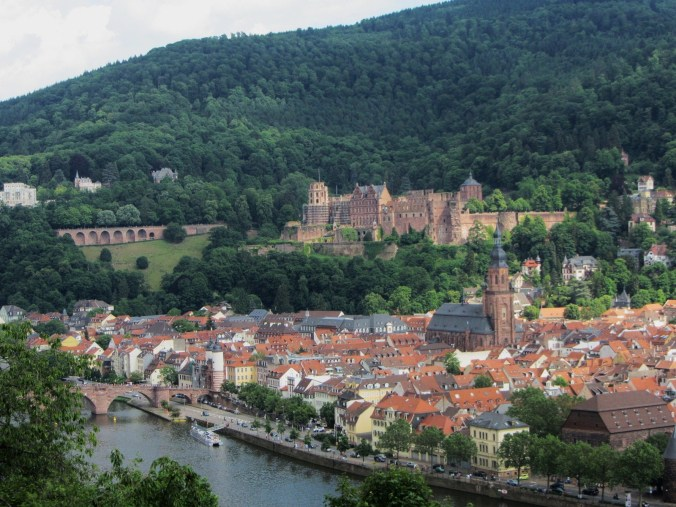 One of the views over Heidelberg from the Philosophenweg (Philosopher's Way), taken in the spring.