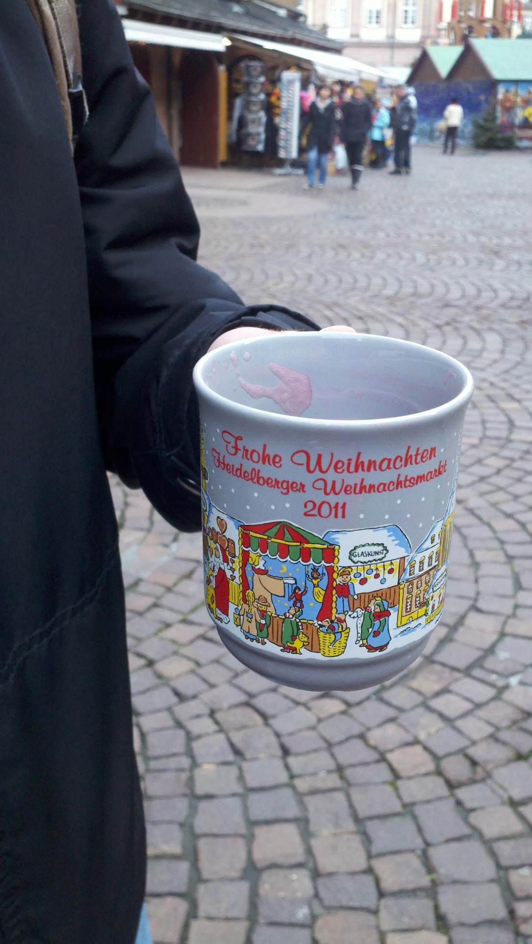 The mug from our first Glühwein at the Heidelberg Weihnachtsmarkt (Christmas Market).