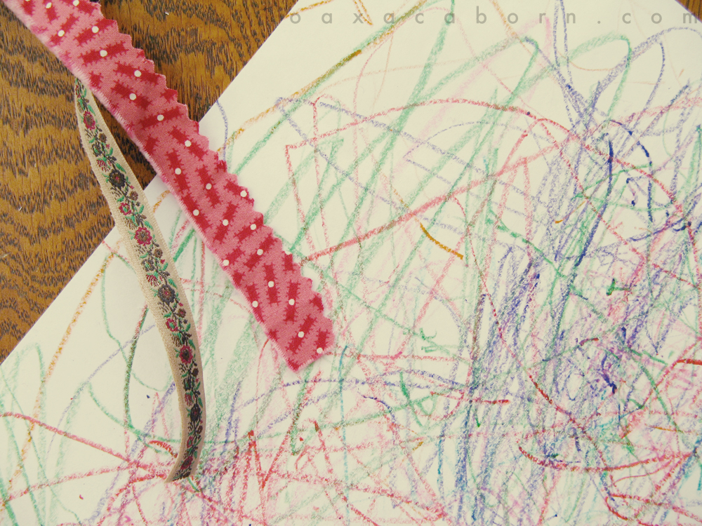 crayon scribbles, photo via oaxacaborn dot com