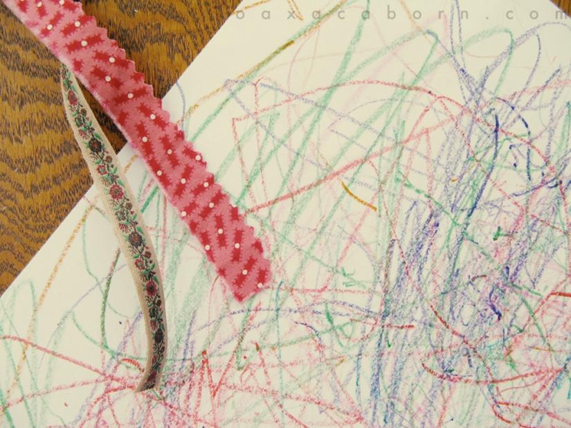 crayon scribbles, photo via oaxacaborn dot com