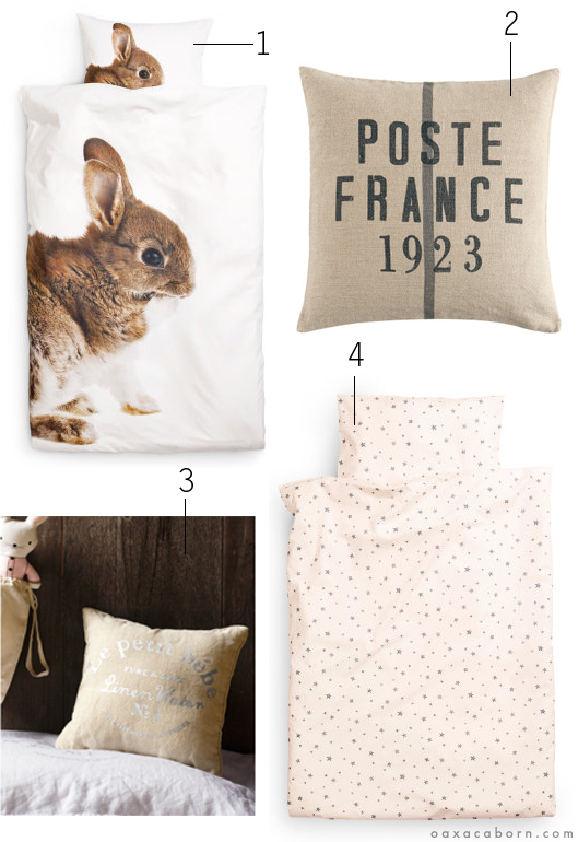 H M - Kids Home collection - Brown and Linen collage via Oaxacaborn dot com