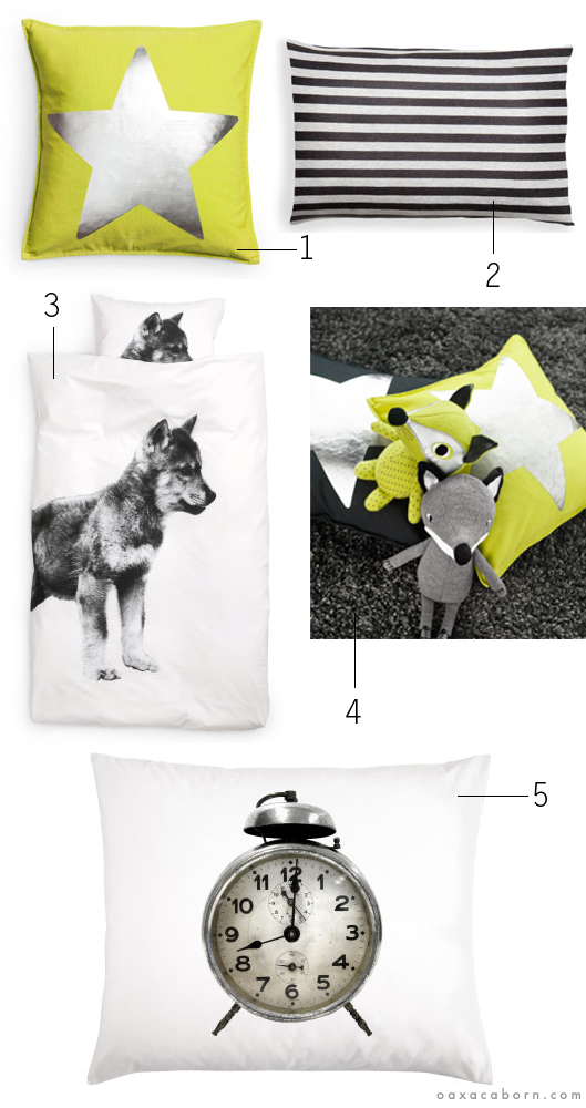 H M - Kids Home collection - Grey and Green collage via Oaxacaborn dot com
