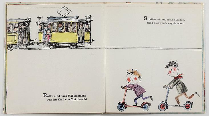 Scan from German vintage children's book Fahre Mit Durchs ABC via Lab-Curio as seen on Oaxacaborn dot com