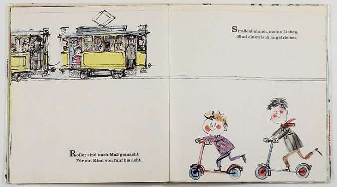 Scan from German vintage children's book Fahre Mit Durchs ABC via Lab-Curio as seen on Oaxacaborn dot com